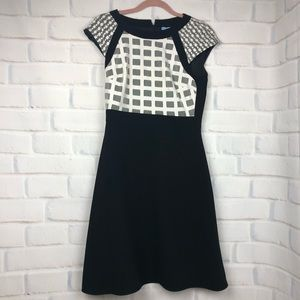 d94885d735a Antonio Melani black and white fit and flair dress